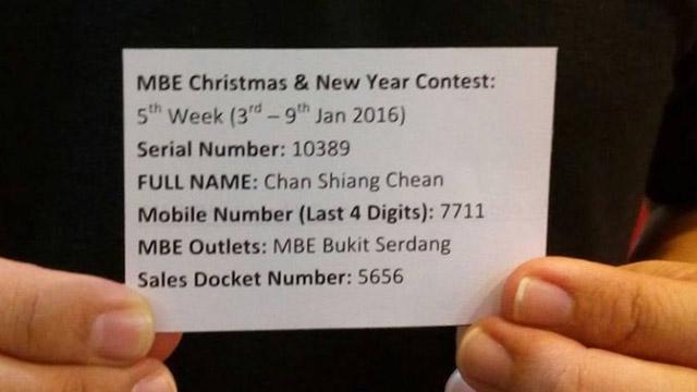 4th Winner: Shopping Vouchers