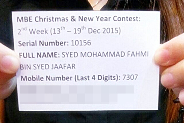 Syed 2nd Week (GSC Vouchers 13th Dec - 19th Dec 2015)